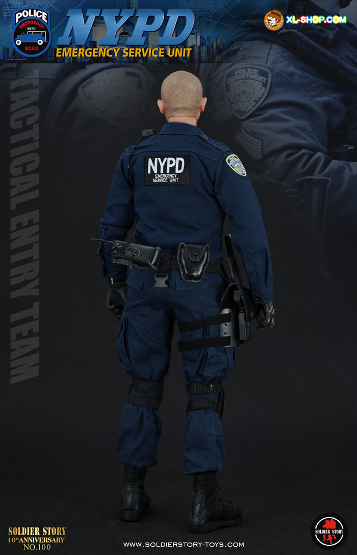 "Soldier Story 1//6 NYPD ESU ""TACTICAL ENTRY TEAM"" Handcuffs Model for 12/"" Figure"